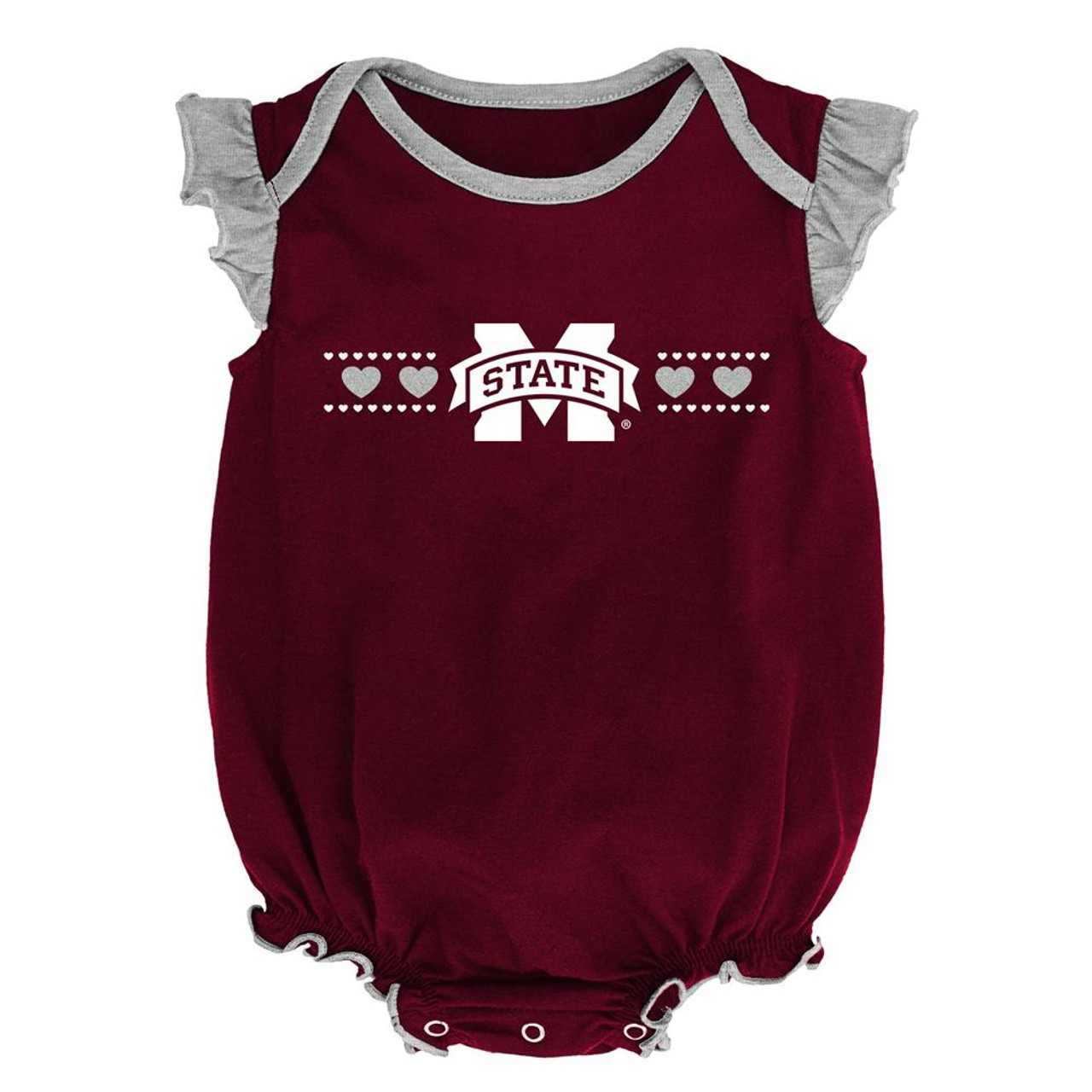 Mississippi State Bulldogs Creeper 2 Pack Homecoming Bodysuit Set