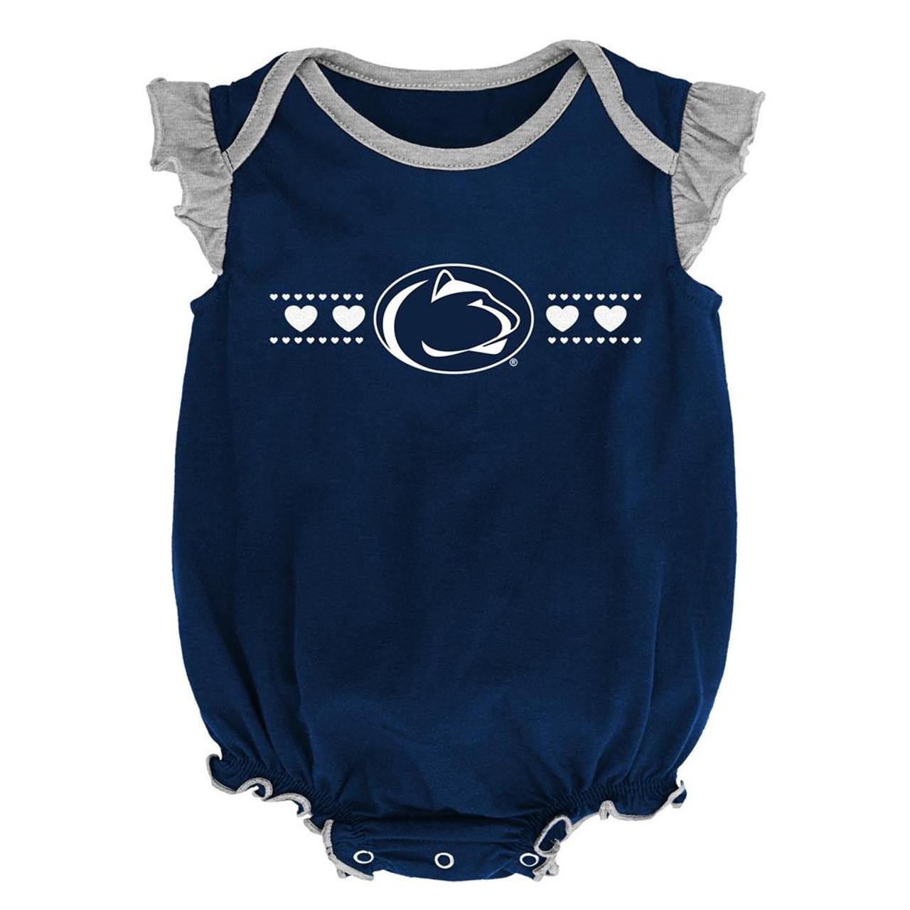Penn State University Creeper 2 Pack Homecoming Bodysuit Set