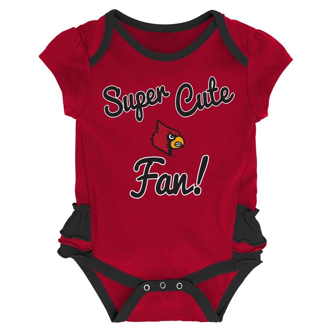 Louisville Cardinals Creeper, Bib and Bootie Set Infant Set
