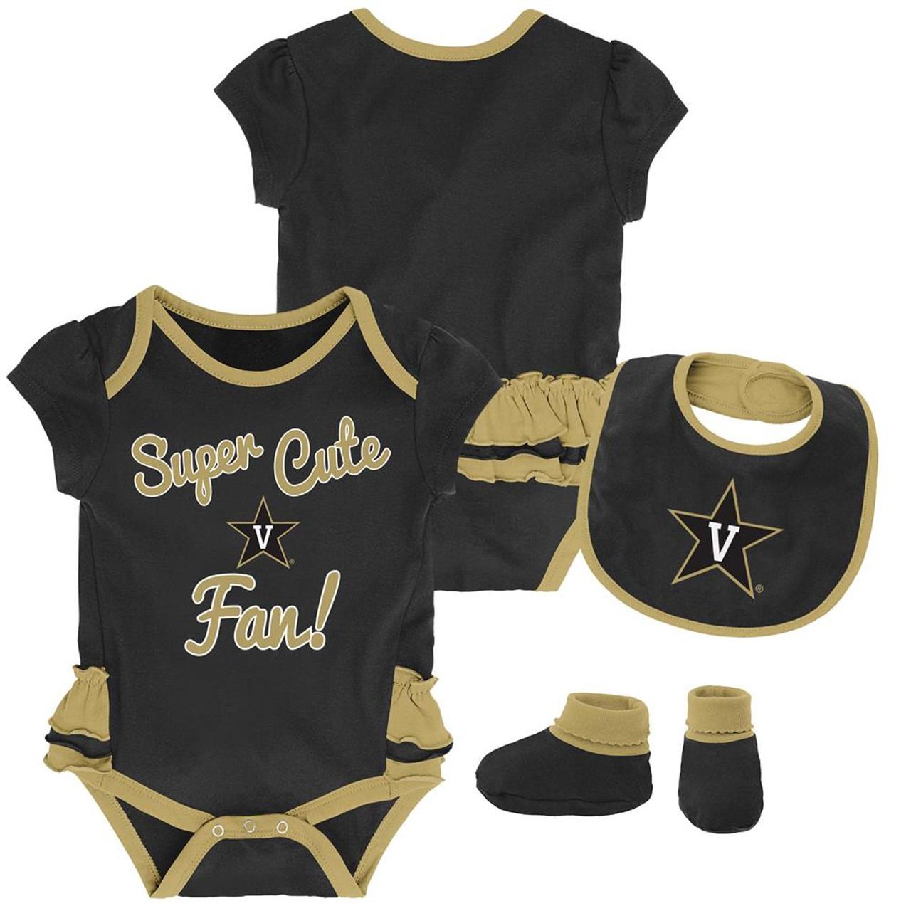 Vanderbilt University Vandy Creeper, Bib and Bootie Set Infant Set