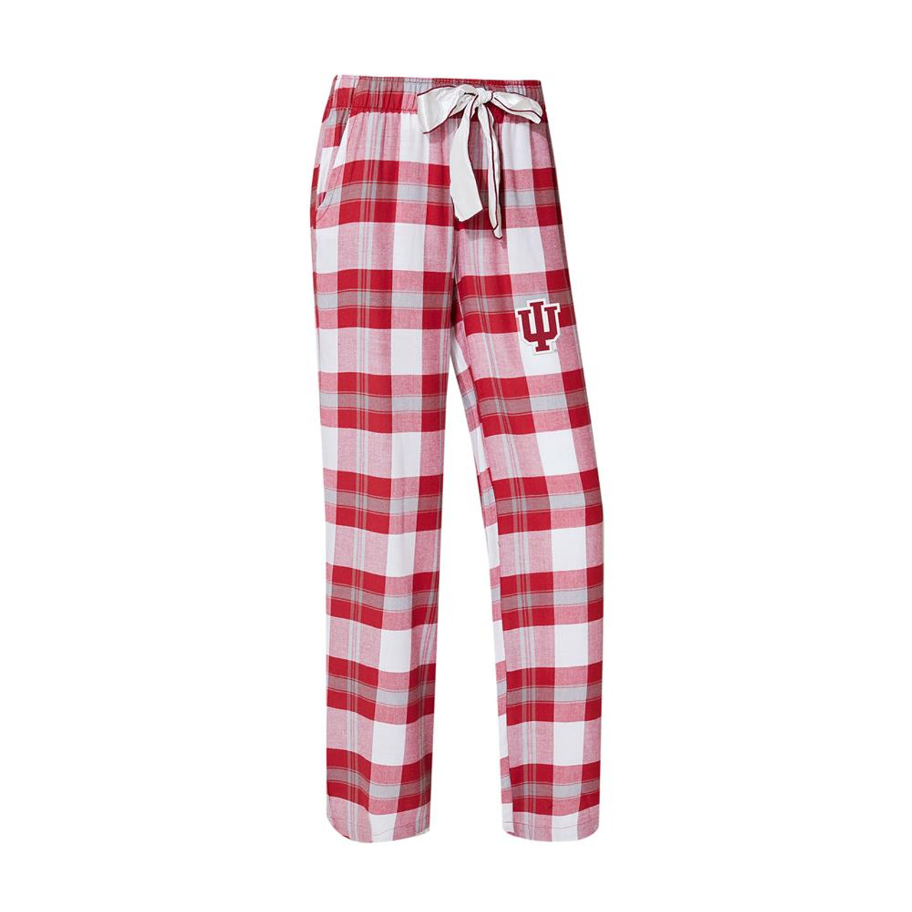 Indiana University Hoosiers Women's Flannel Pajamas Plaid PJ Bottoms