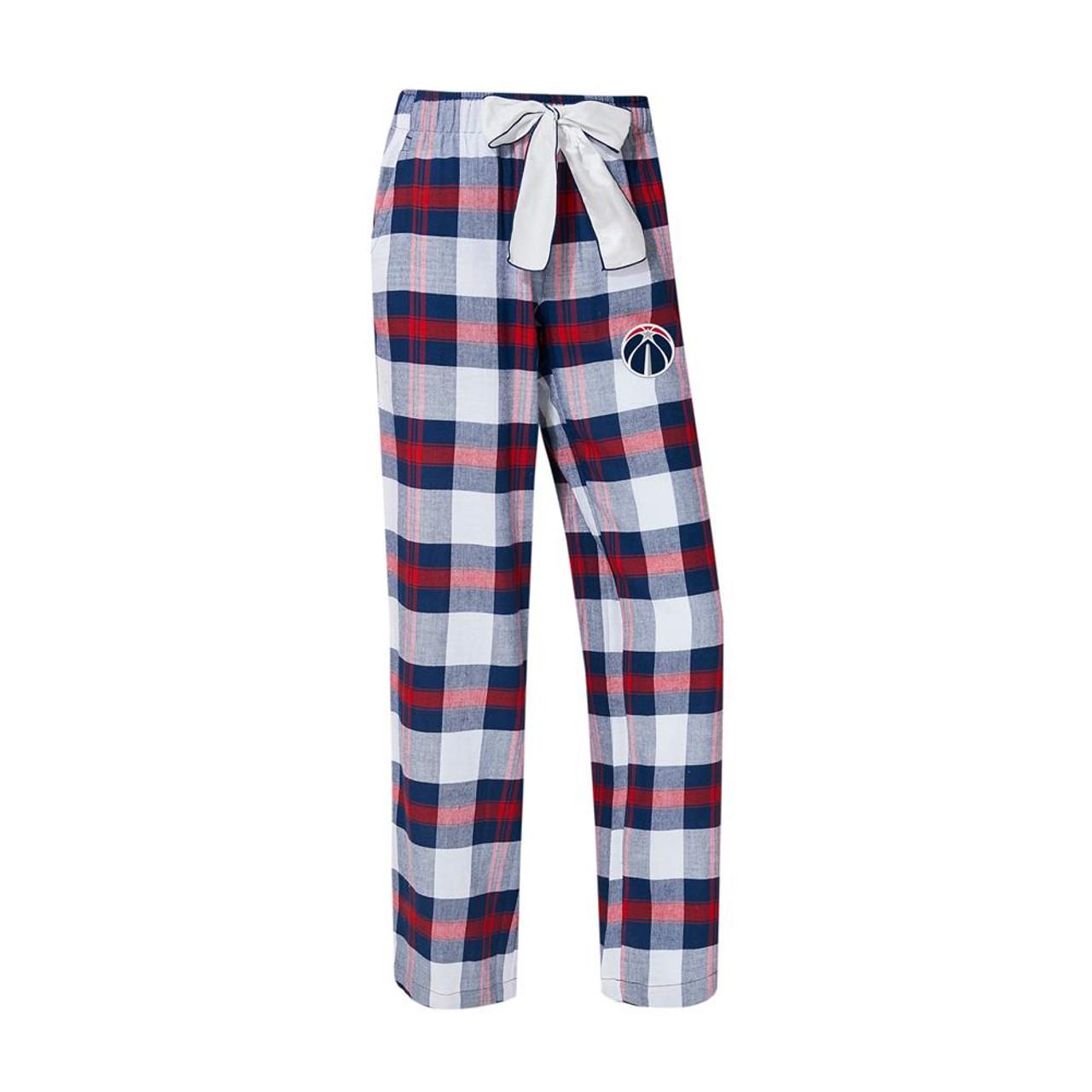 Washington Wizards Women's Flannel Pajamas Plaid PJ Bottoms