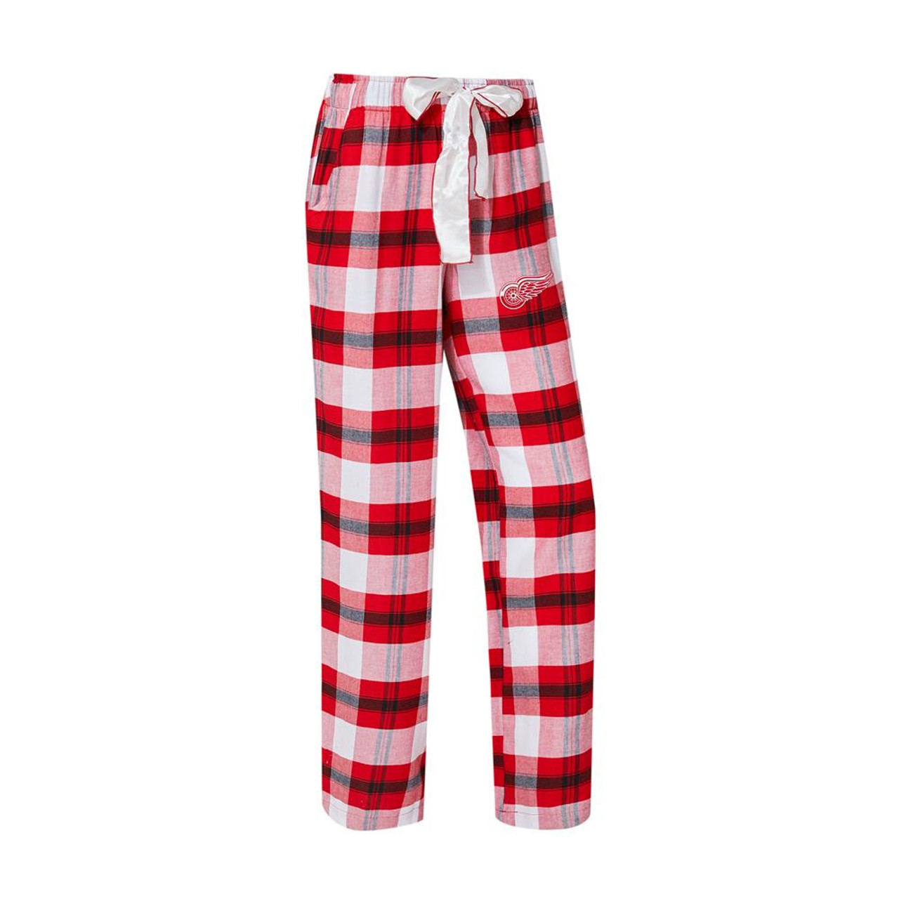 Detroit Red Wings Women's Flannel Pajamas Plaid PJ Bottoms