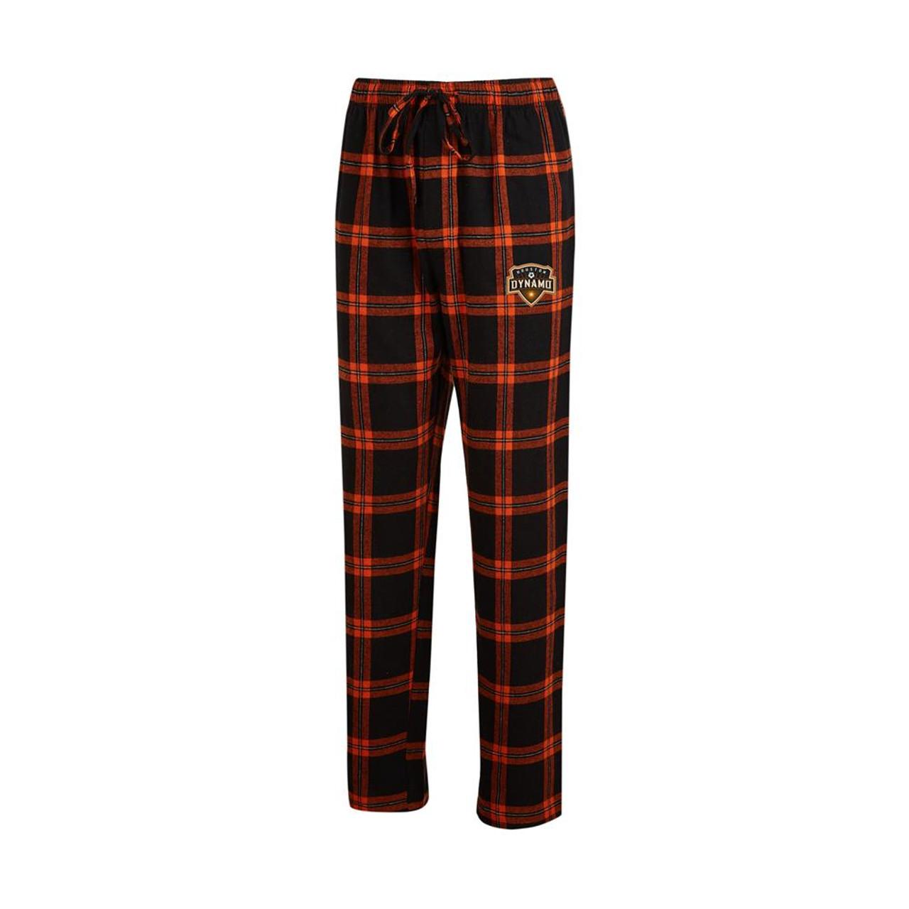 Houston Dynamo Men's Pajama Pants Plaid Pajama Bottoms