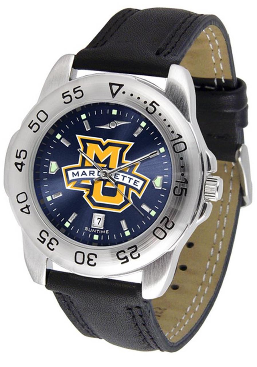 Men's Marquette University Watch Leather Sports Watch