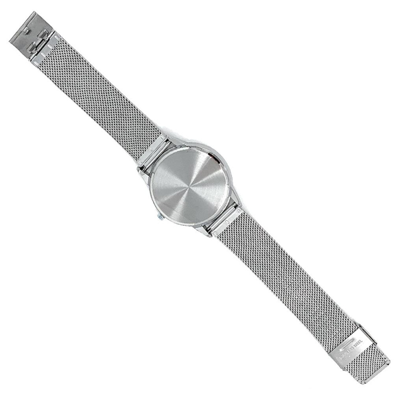 University of Houston Watch Silver Mesh Statement Wristwatch
