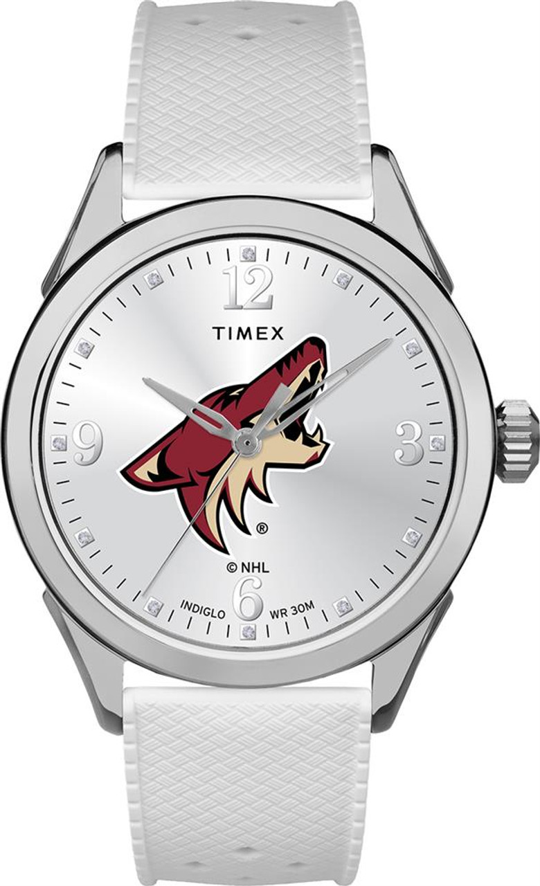 Arizona Coyotes Ladies Silcone Athena Timex Watch