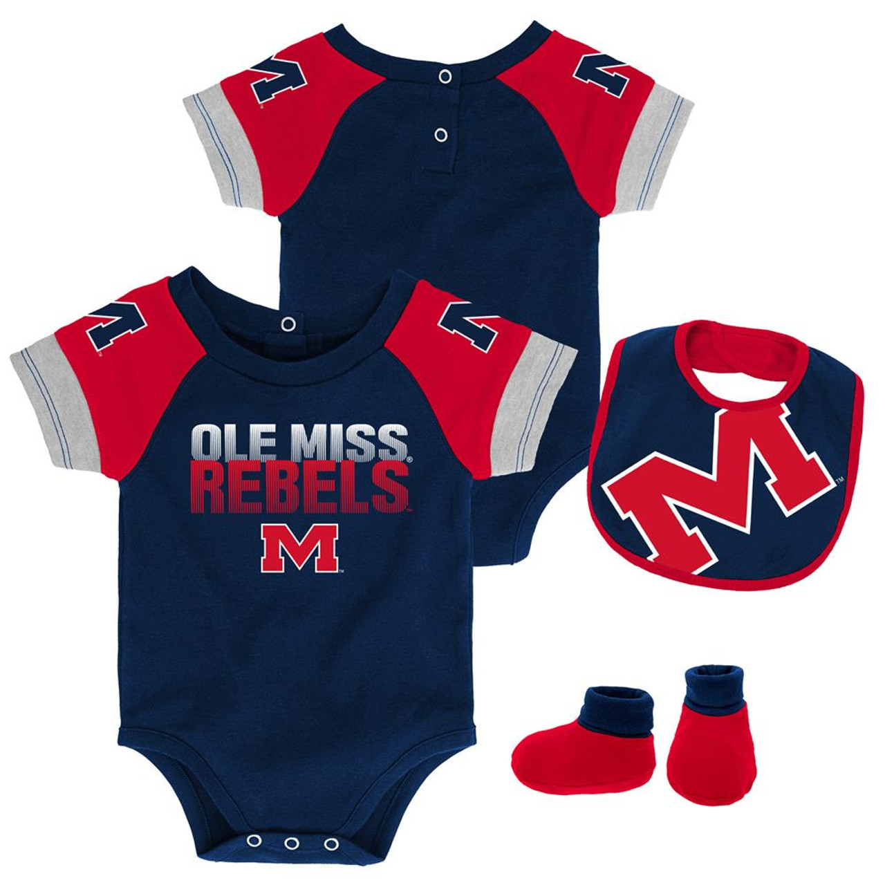 cheap for discount e2695 f5d5f Infant Ole Miss Rebels Creeper Set Baby Snapsuit Set