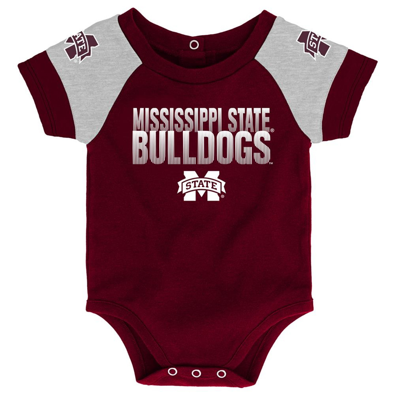 Infant Mississippi State Bulldogs Creeper Set Baby Snapsuit Set
