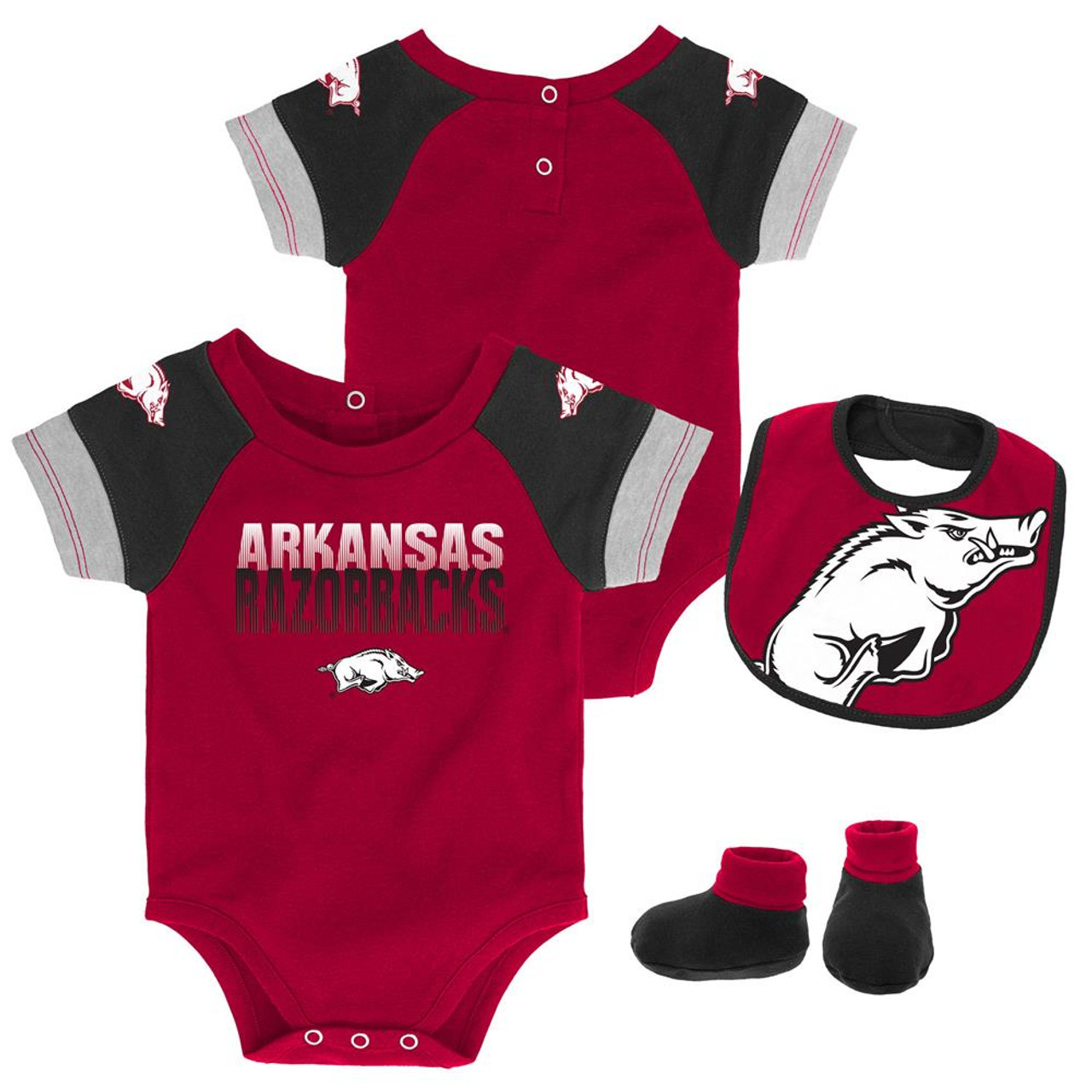 Infant Arkansas Razorback Creeper Set Baby Snapsuit Set