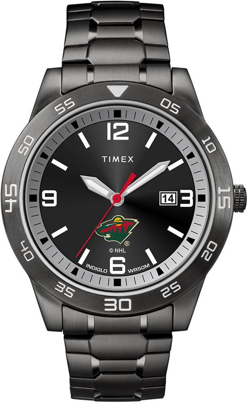 Minnesota Wild Men's Black Acclaim Timex Watch