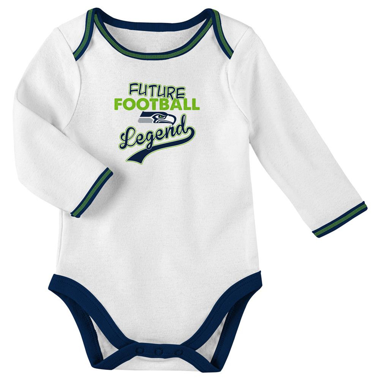 Infant Boy's Seattle Seahawks Creeper Set Future Legend