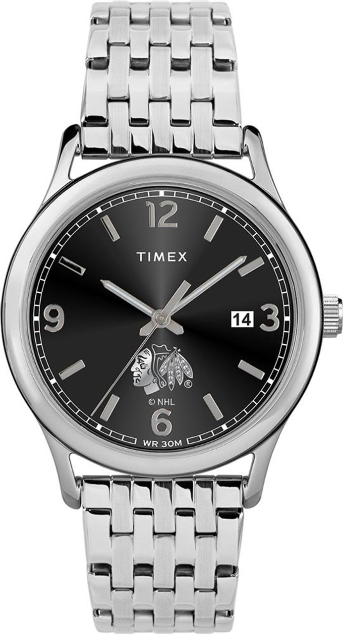 Women's Chicago Blackhawks Watch Timex Sage Stainless Watch