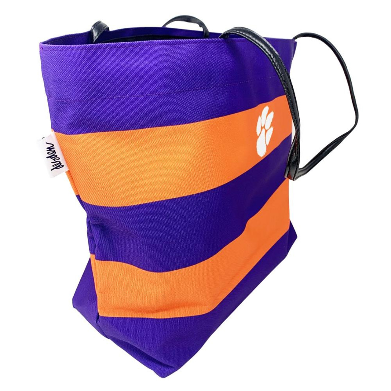 Clemson University Tigers Tote Striped Rugby Tote Bag