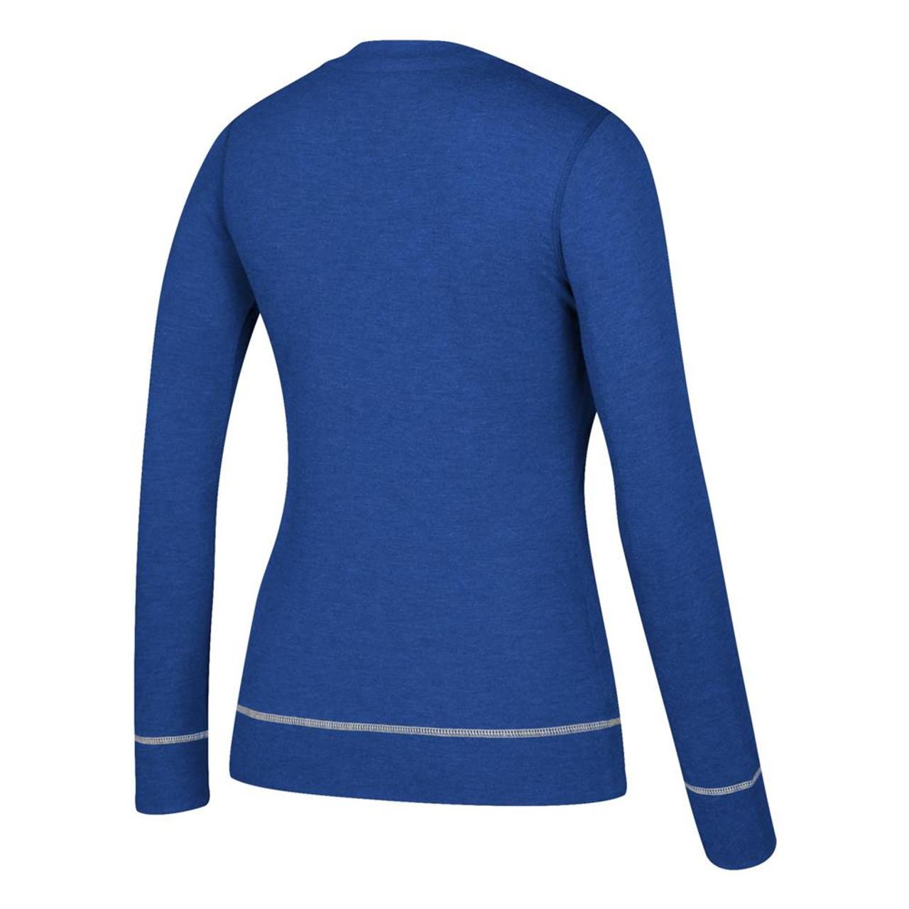 Women's Nashville Predators Long Sleeve Adidas Skate Lace Top