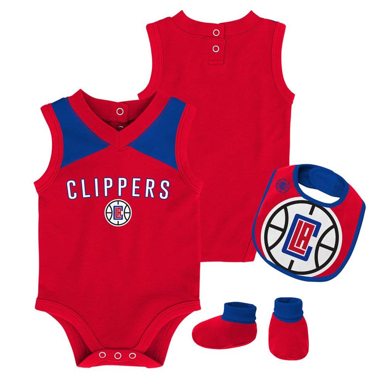 Infant Los Angeles Clippers LA Creeper Set Baby Snapsuit Set
