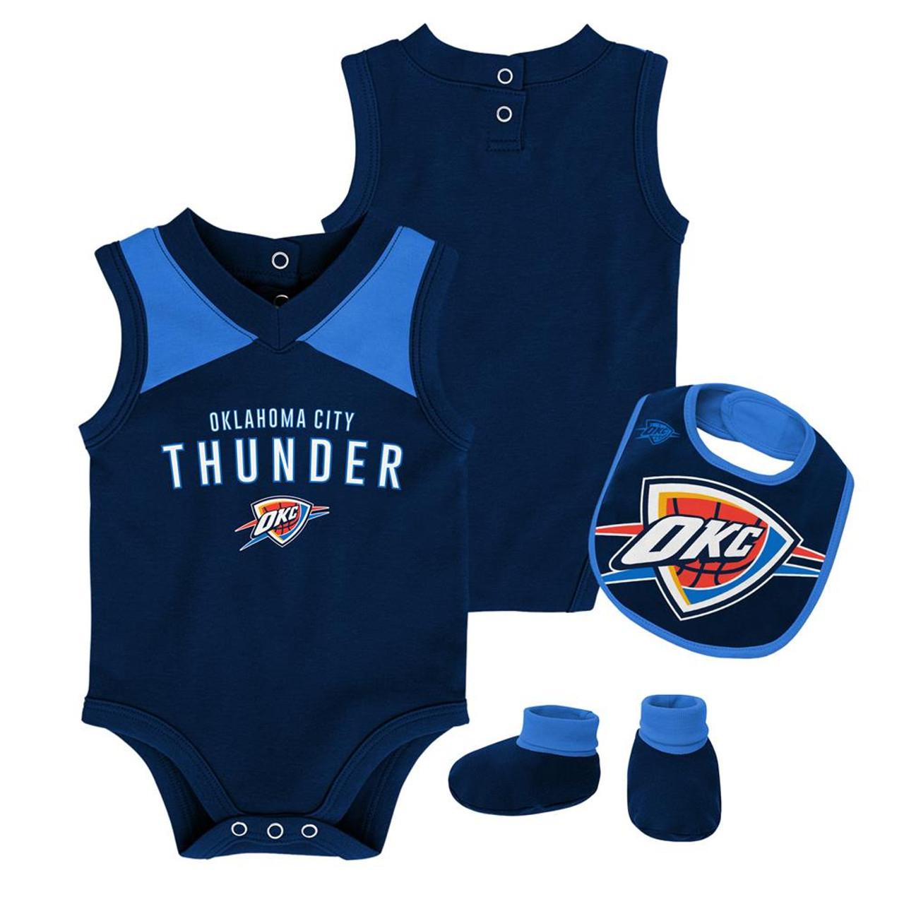 Infant Oklahoma City Thunder Creeper Set Baby Snapsuit Set