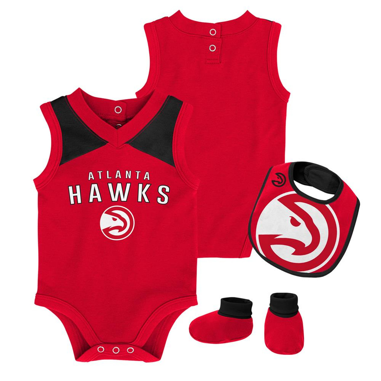 Infant Atlanta Hawks Creeper Set Baby Snapsuit Set