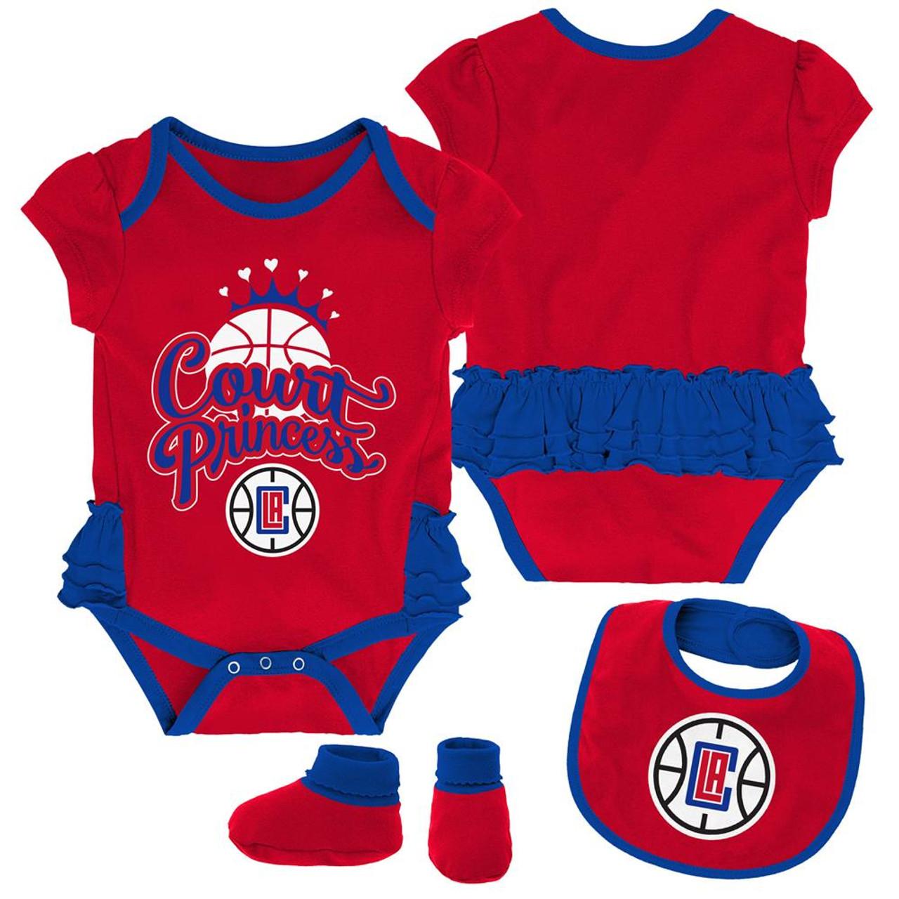 Los Angeles Clippers LA Creeper, Bib and Bootie Set Infant Set