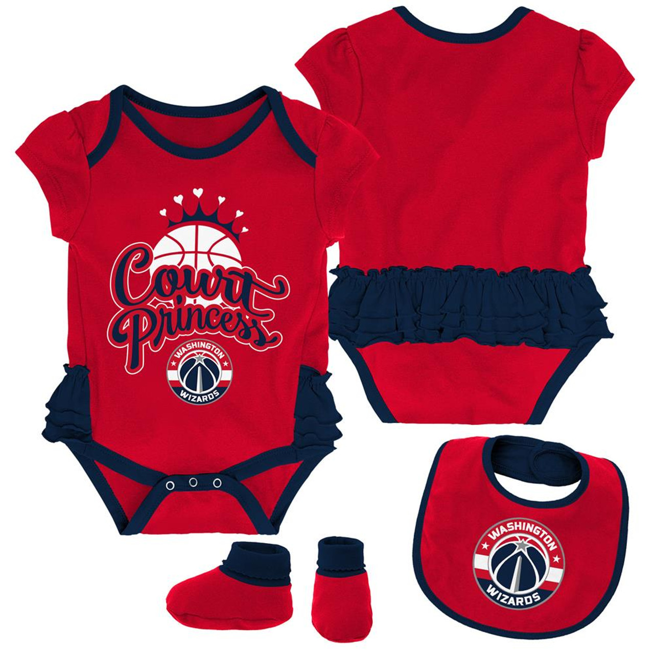 Washington Wizards Creeper, Bib and Bootie Set Infant Set