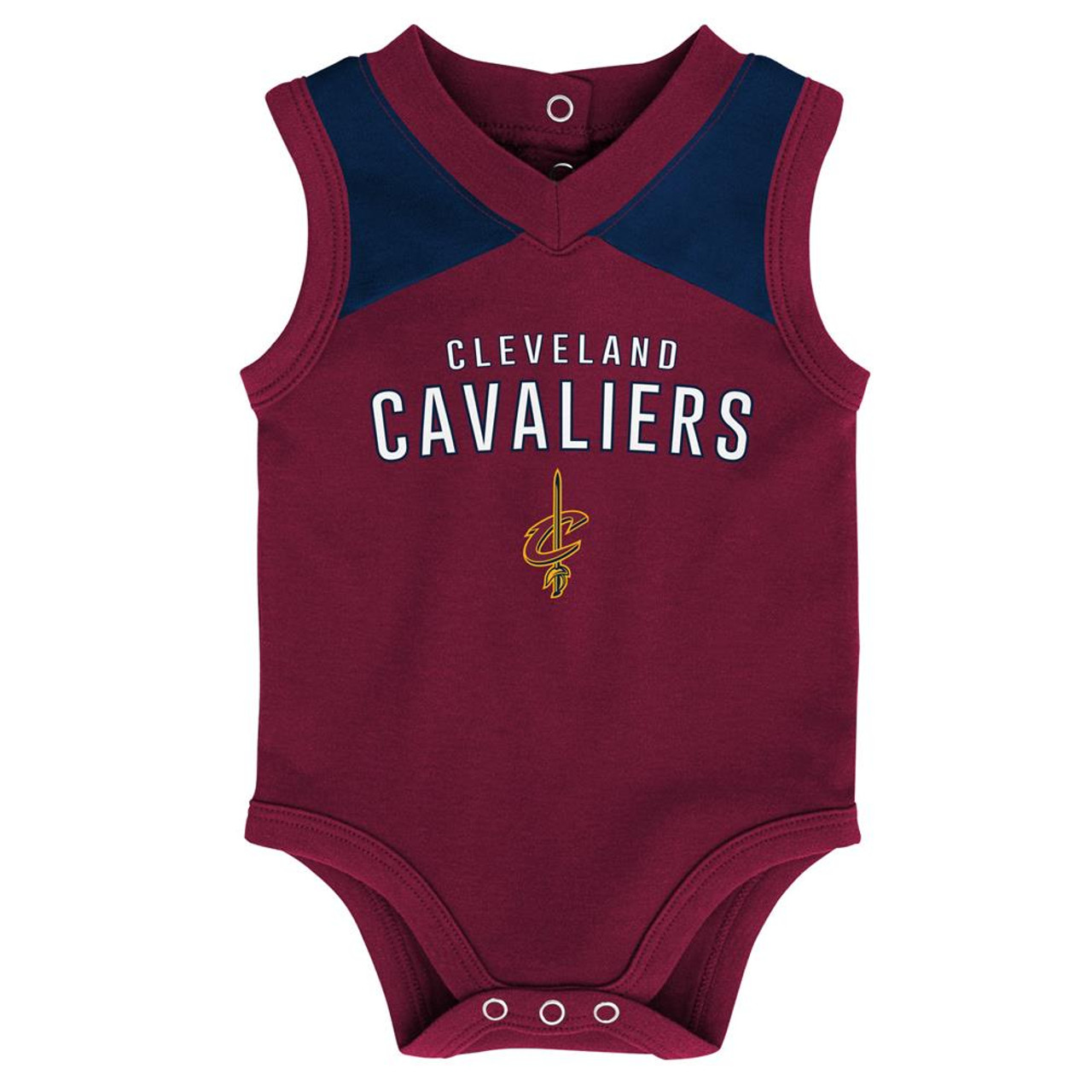 Infant Cleveland Cavaliers Creeper Set Baby Snapsuit Set