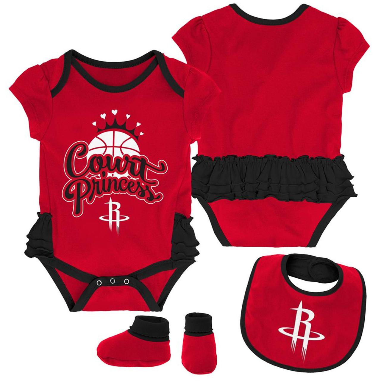 Houston Rockets Creeper, Bib and Bootie Set Infant Set