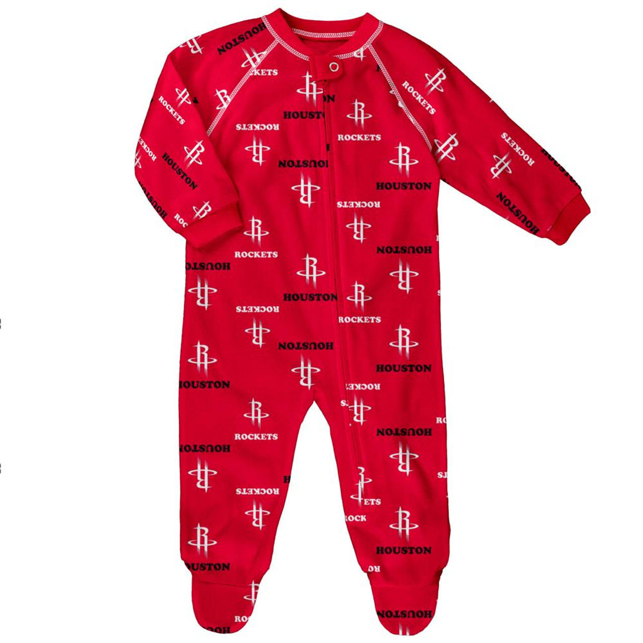 Infant/Toddler Houston Rockets Coverall Zip Up Sleeper