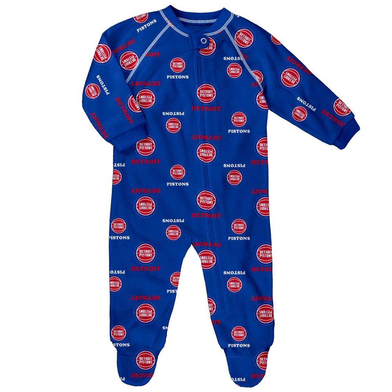 Infant/Toddler Detroit Pistons Coverall Zip Up Sleeper