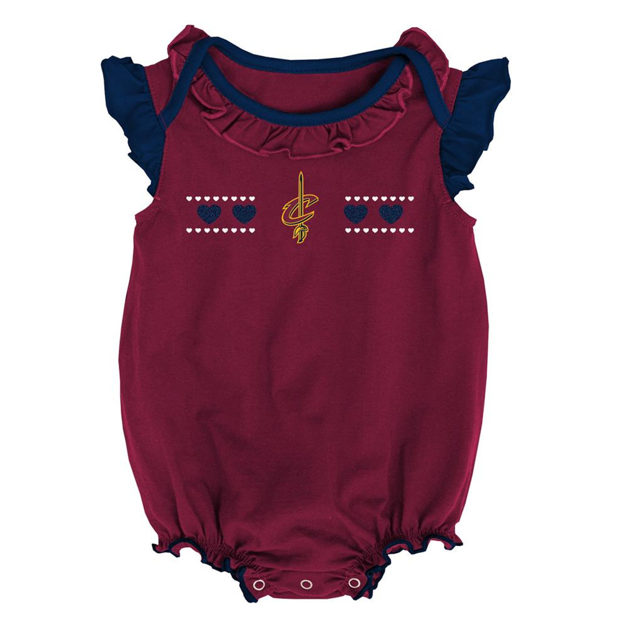 Cleveland Cavaliers Creeper 2 Pack Homecoming Bodysuit Set
