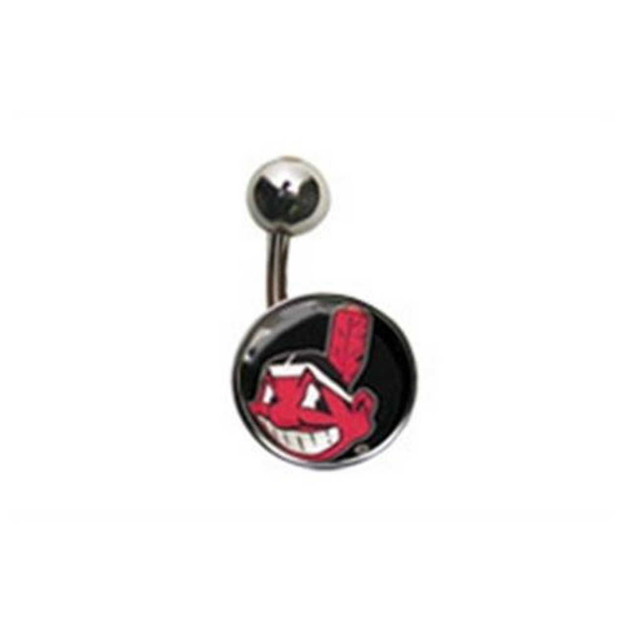 Cleveland Indians Belly Button Ring Naval Body
