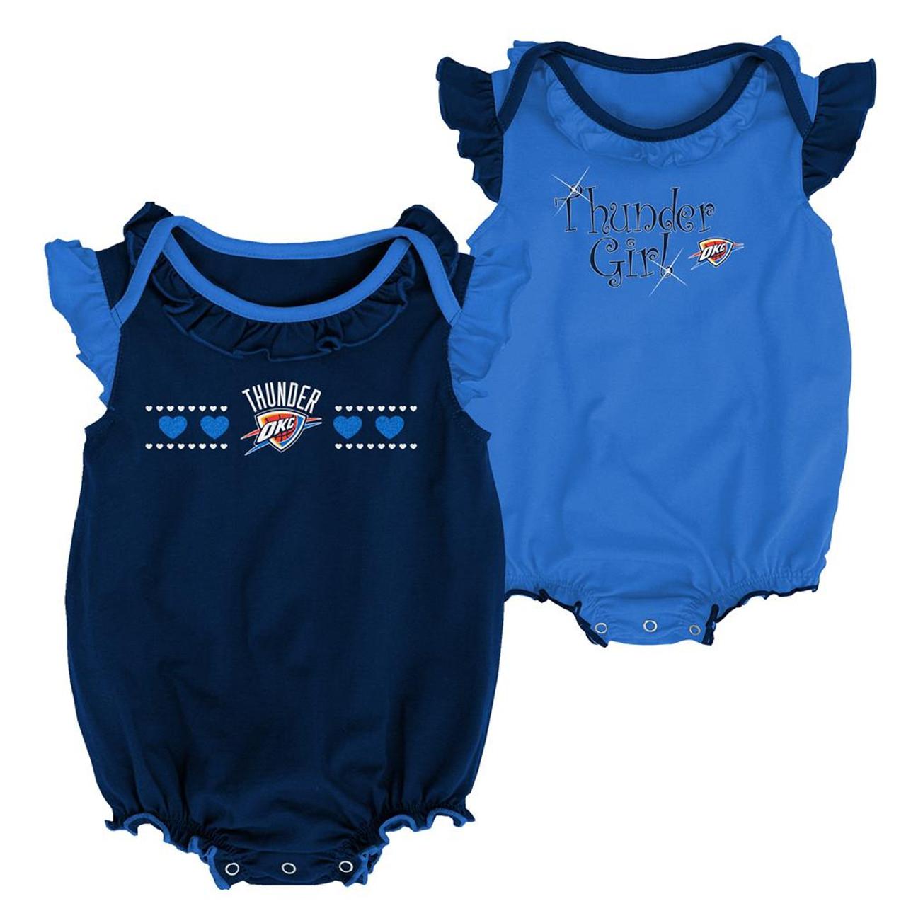 Oklahoma City Thunder Creeper 2 Pack Homecoming Bodysuit Set