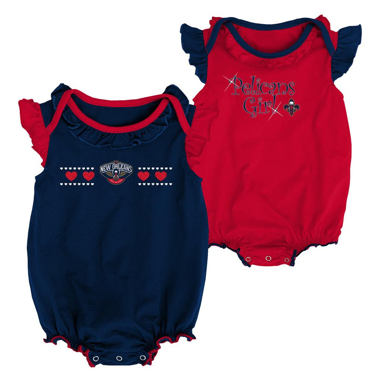 New Orleans Pelicans Creeper 2 Pack Homecoming Bodysuit Set
