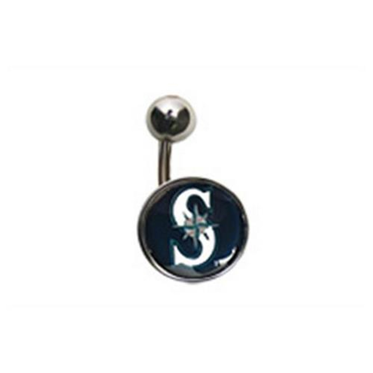 Seattle Mariners Belly Button Ring Naval Body