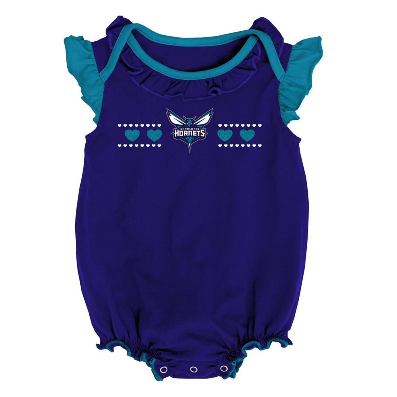 Charlotte Hornets Creeper 2 Pack Homecoming Bodysuit Set
