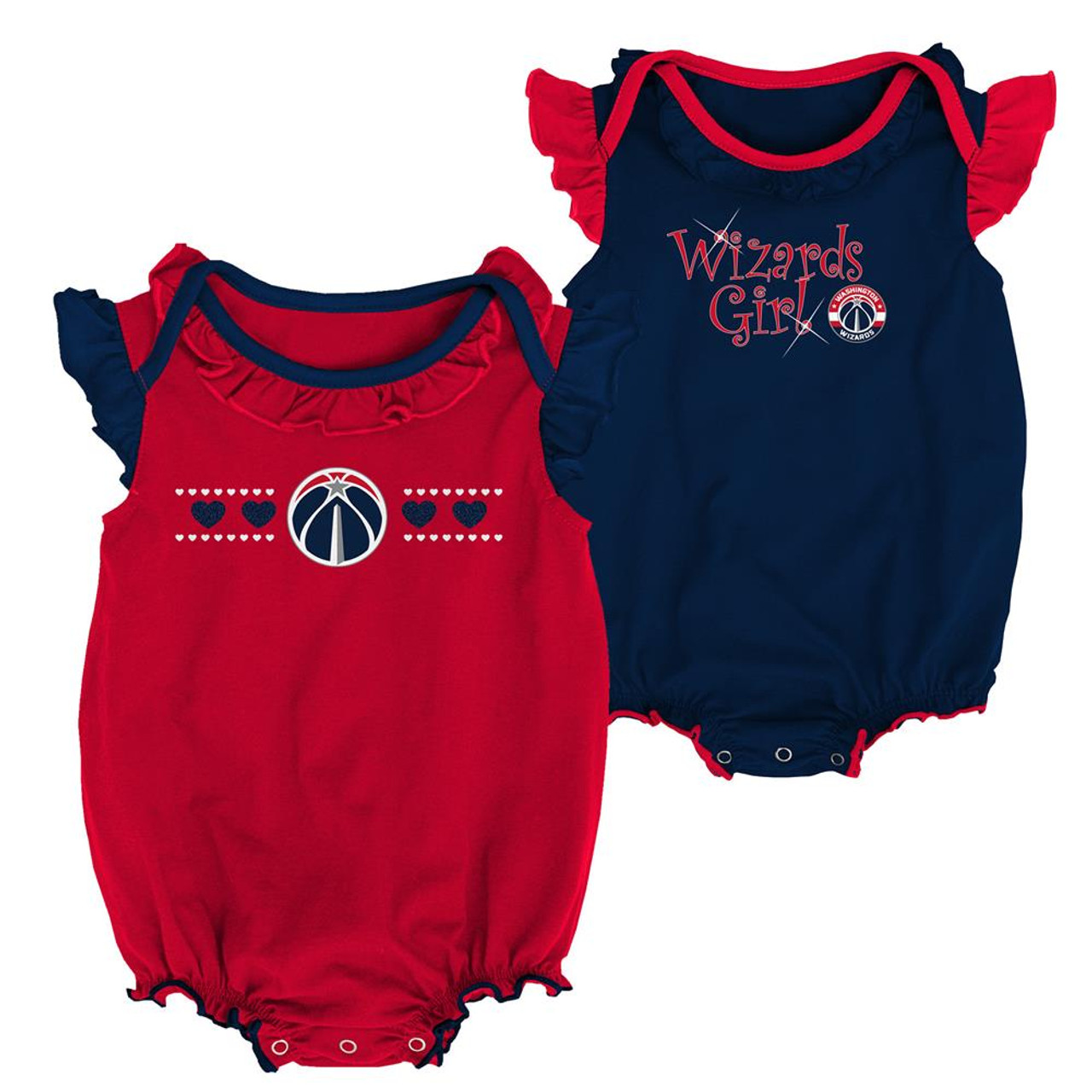 Washington Wizards Creeper 2 Pack Homecoming Bodysuit Set