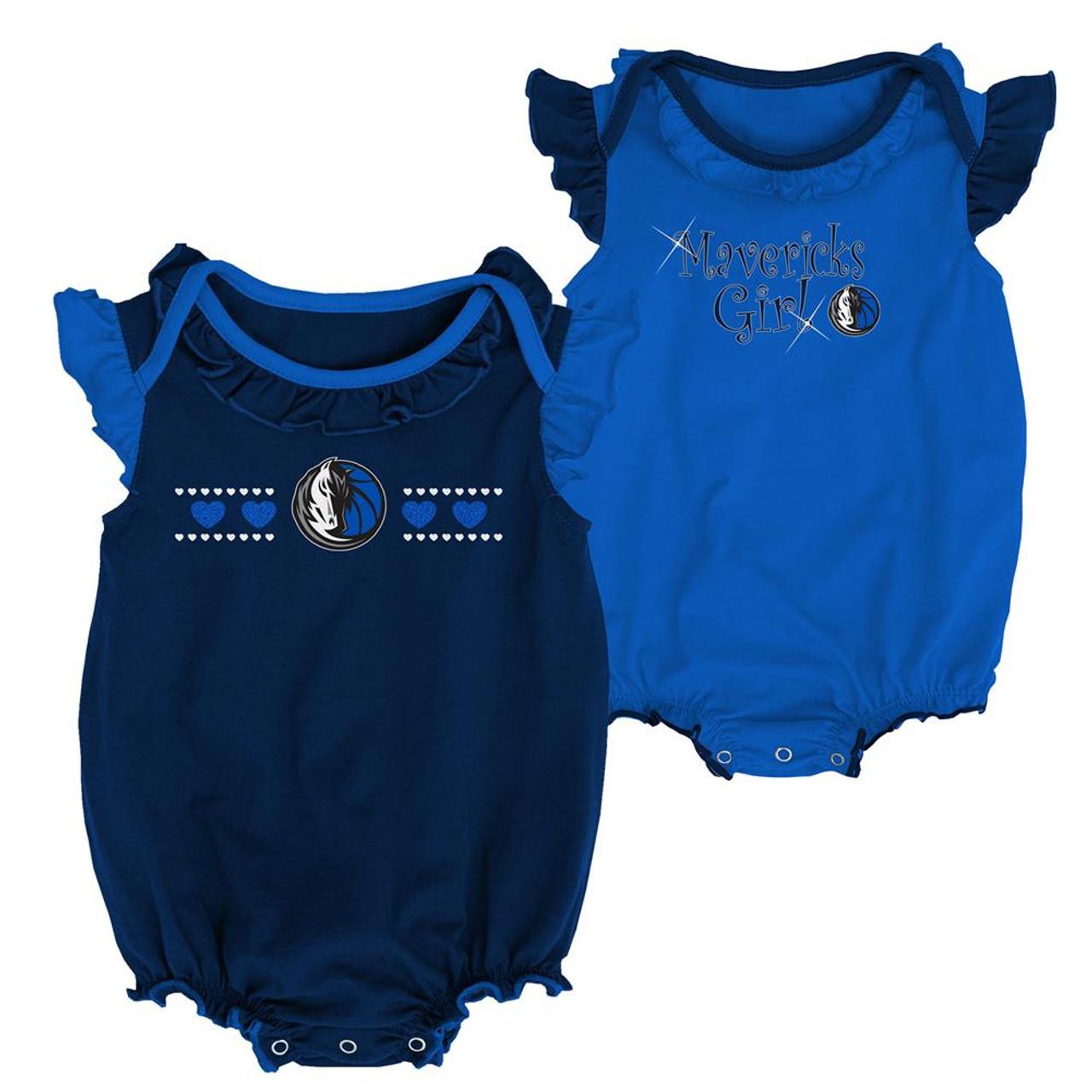 Dallas Mavericks Creeper 2 Pack Homecoming Bodysuit Set