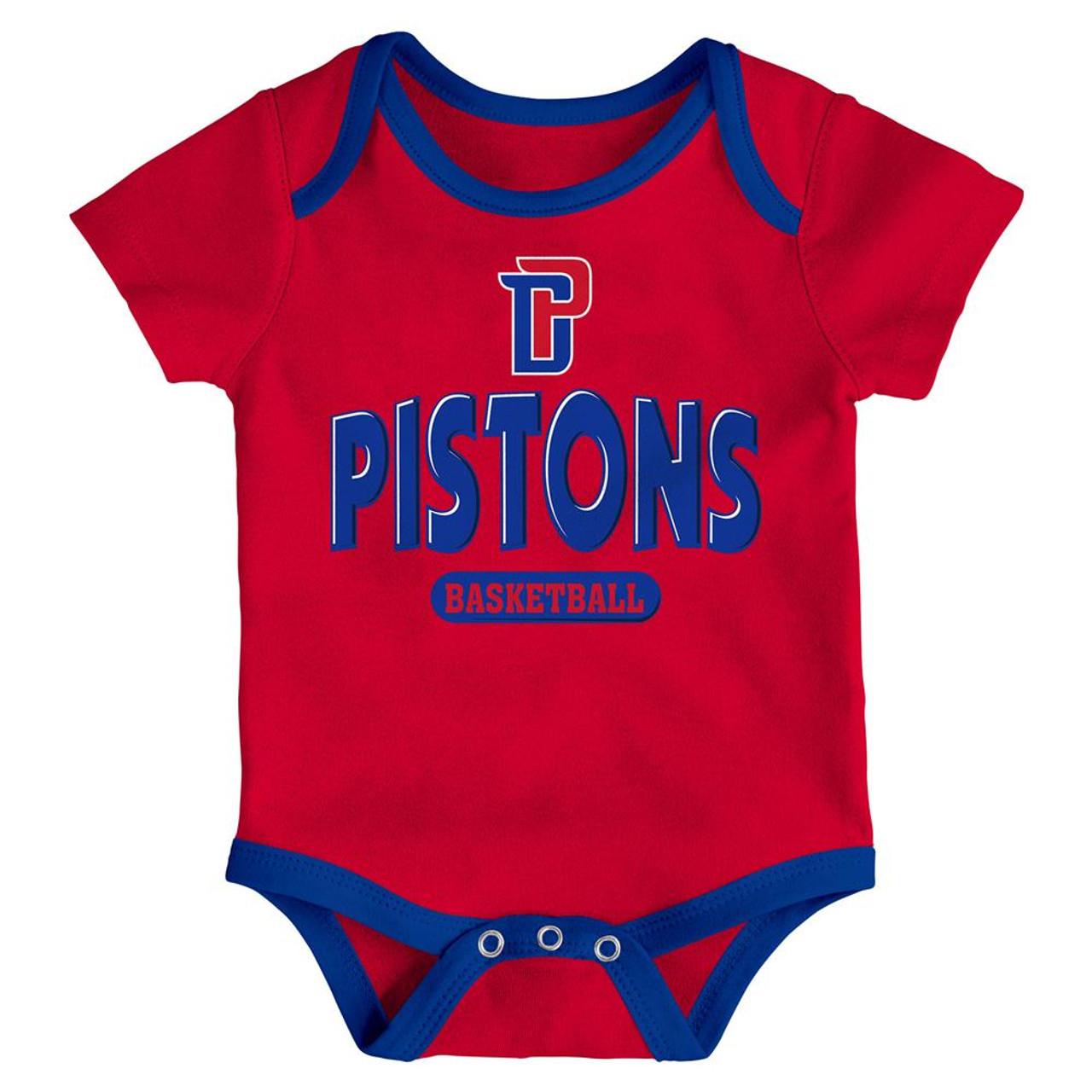 Detroit Pistons Infant Creeper Set Lil Tailgater 3 Pack