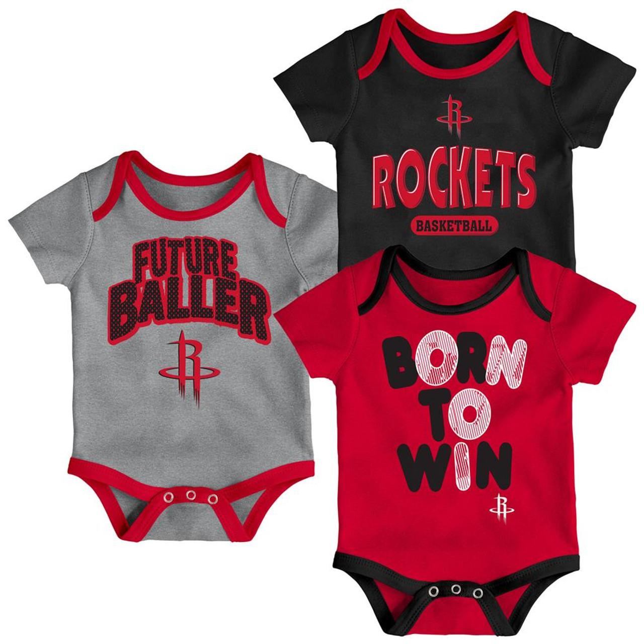 Houston Rockets Infant Creeper Set Lil Tailgater 3 Pack