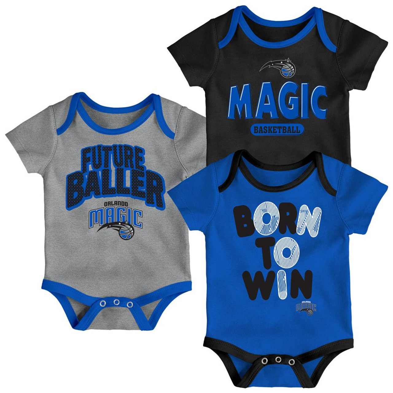 Orlando Magic Infant Creeper Set Lil Tailgater 3 Pack