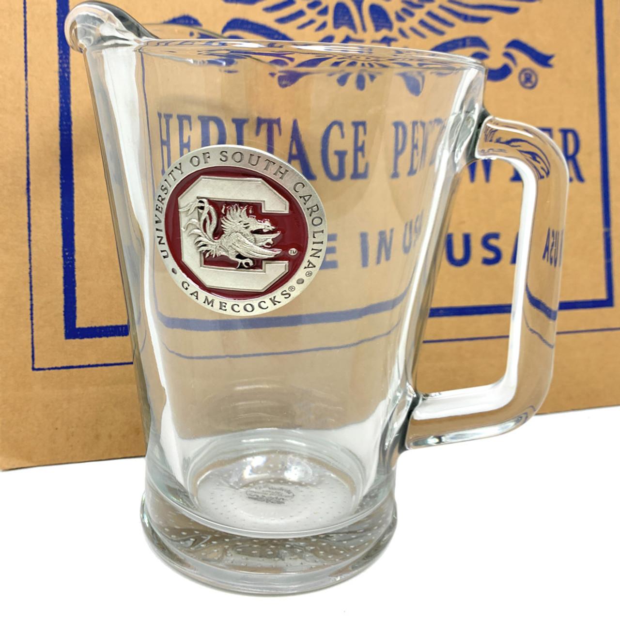 Texas Tech University Pitcher and 2 Stein Glass Set Beer Set