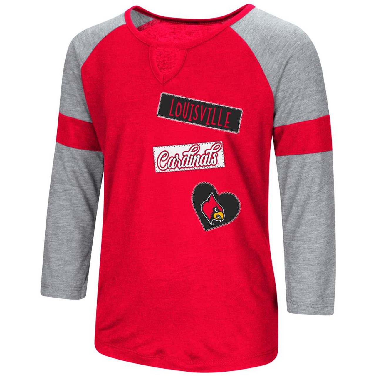 Louisville Cardinals Youth Girls 3/4 Sleeve All You Need Tee