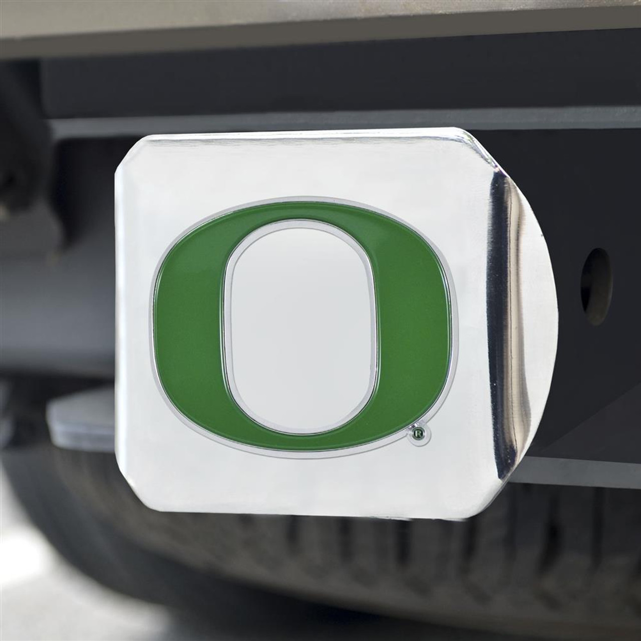 University of Oregon Ducks Trailer Hitch Chrome Hitch Cover
