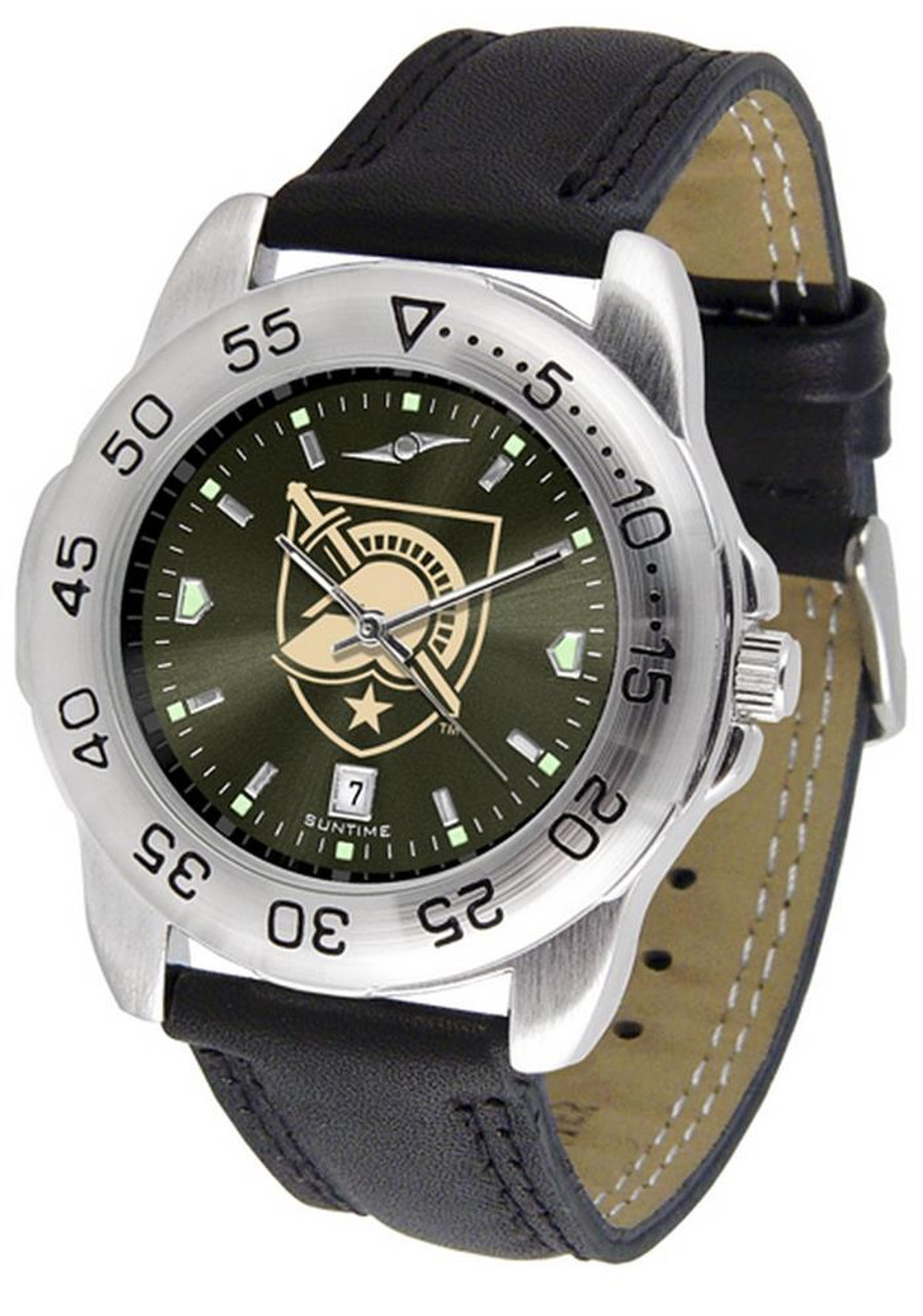 Men's Army Black Knights Watch Leather Sports Watch