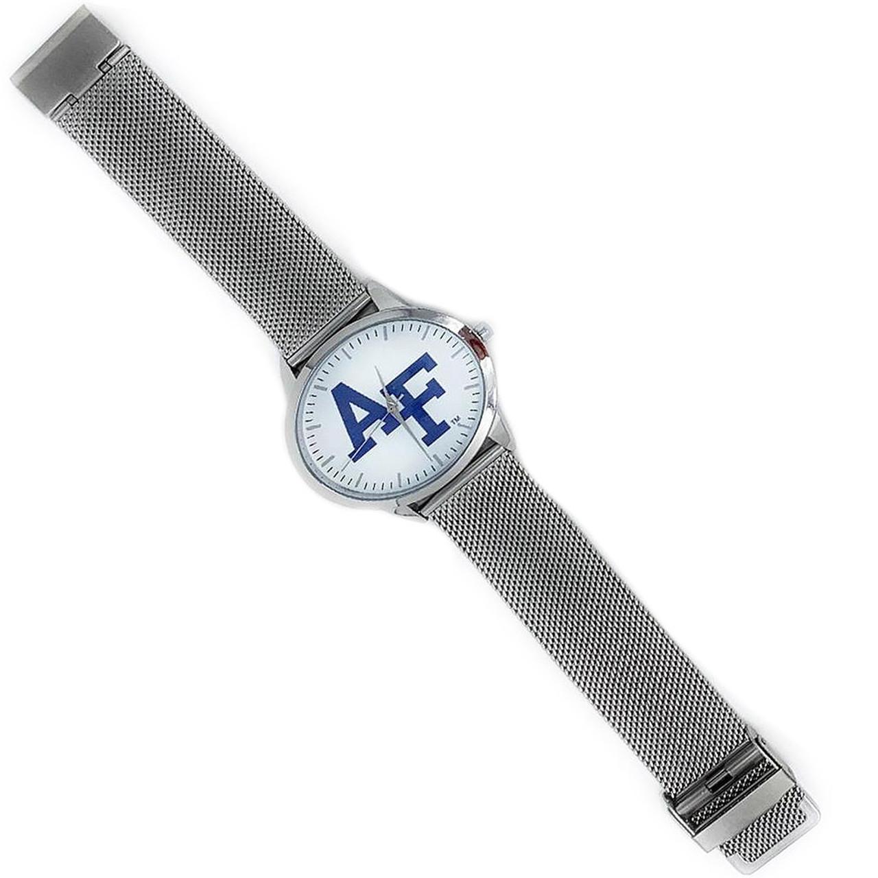 Arkansas Razorback Watch Silver Mesh Statement Wristwatch