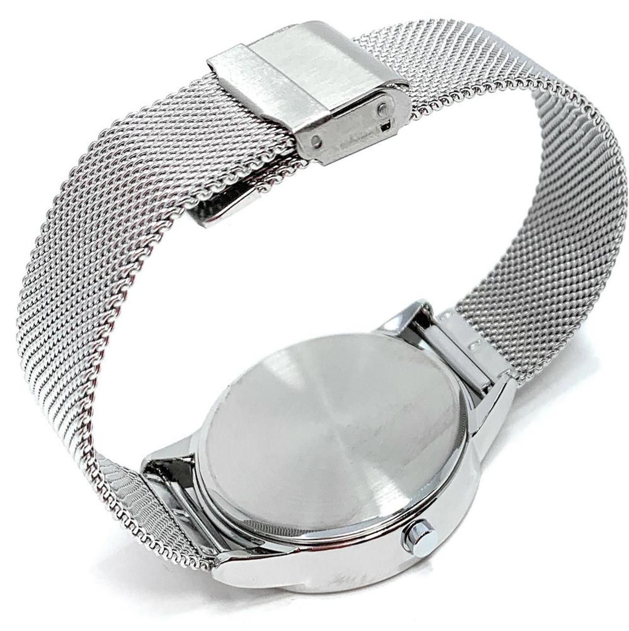 Indiana University Hoosiers Watch Silver Mesh Statement Wristwatch