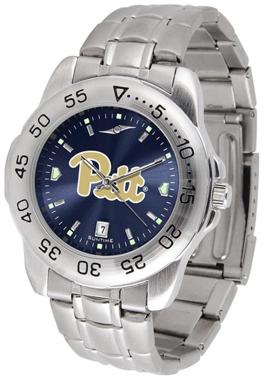 Men's Pitt University Panthers Watch Stainless Steel Dress Watch