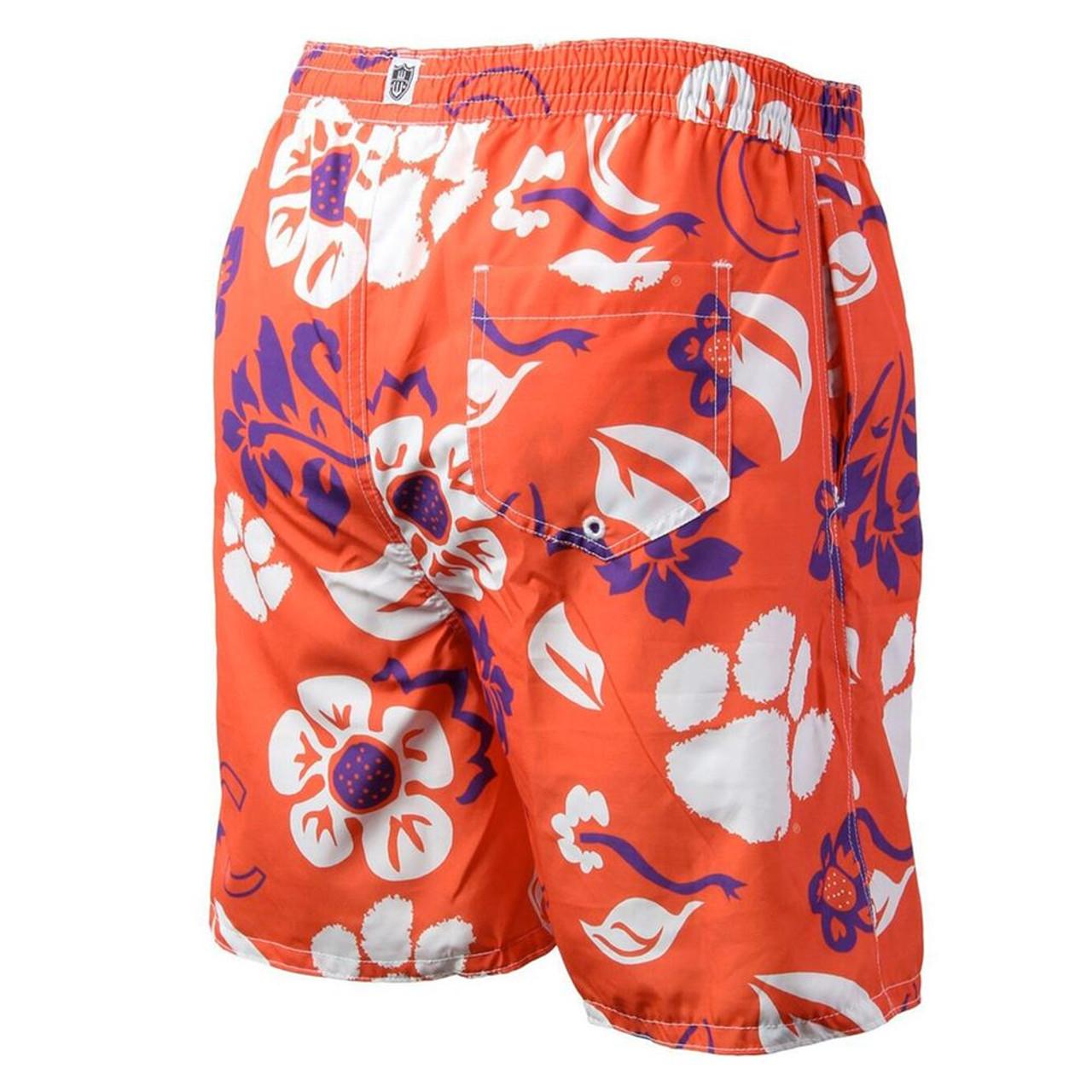 Men's University of Wisconsin Badgers Swim Trunks Floral Swim Shorts