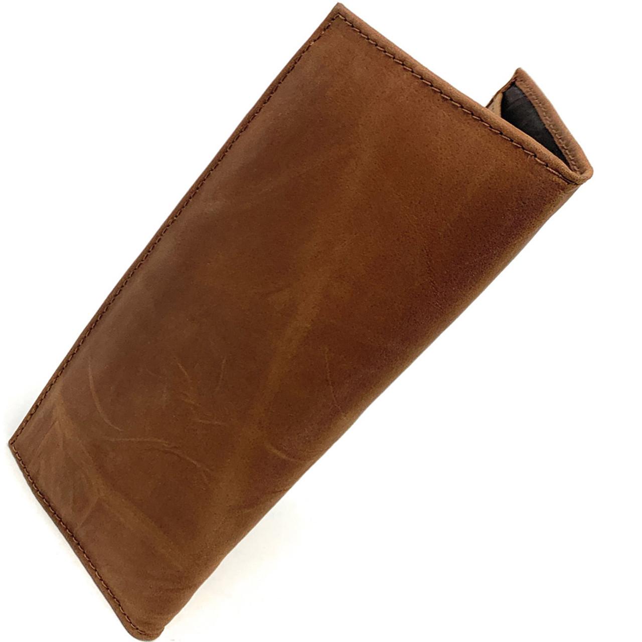 Purdue University Leather Wallet Brown Checkbook Wallet