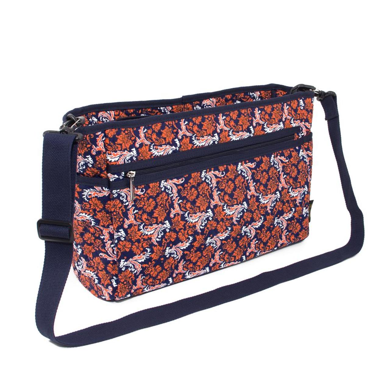Auburn University Tigers Messenger Bag Quilted Bloom Shoulder Tote