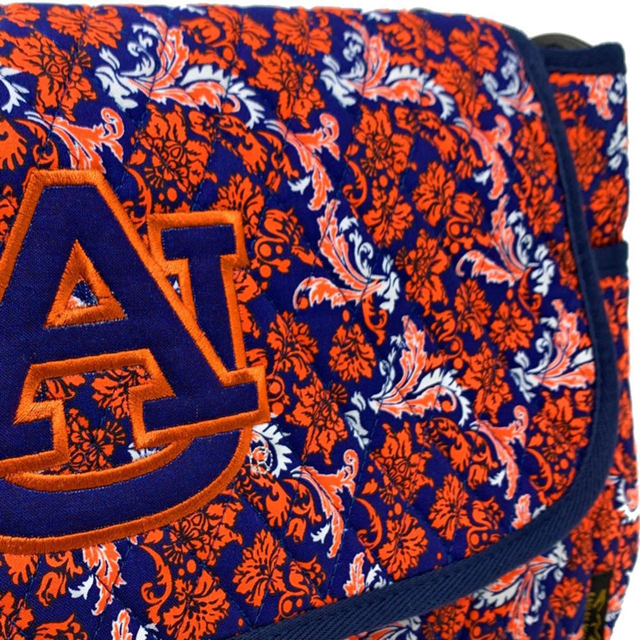 Clemson University Tigers Messenger Bag Quilted Bloom Shoulder Tote
